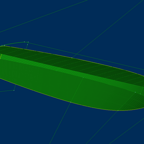 Developable surface in ship design.