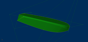 Boat model buld from developable surfaces.