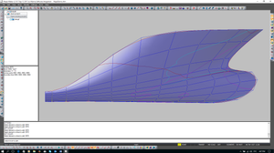 Inflection lines for frames, waterlines and buttocks.
