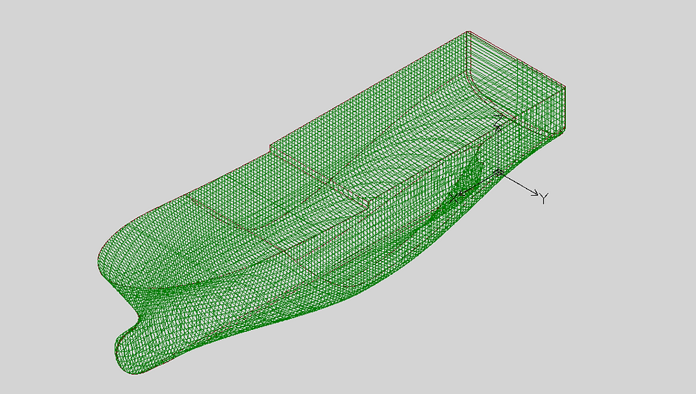 DXF 3D model with cross sectional lines.