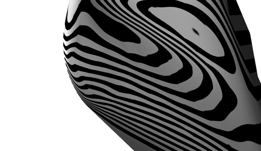 Zebra shading for preliminary hull.