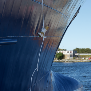 Fishing vessel hull shape modification.