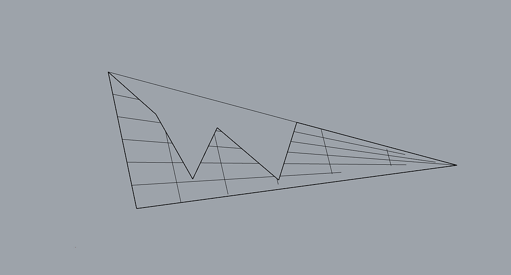 Trimmed triangle surface imported into Rhino.