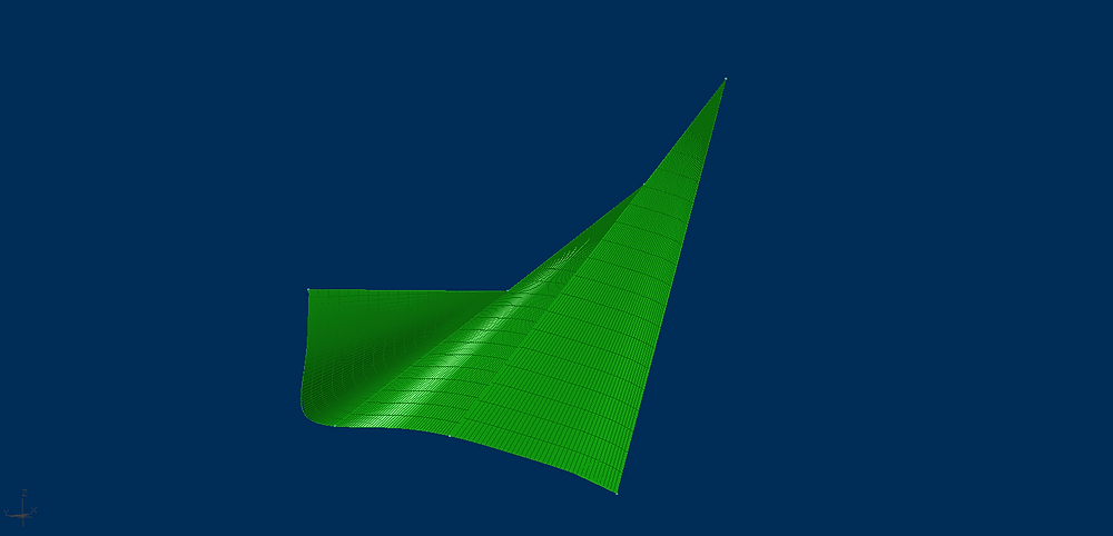 Set of conical surfaces based on same guide line.