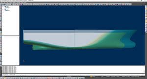Scaling model of the hull surface.