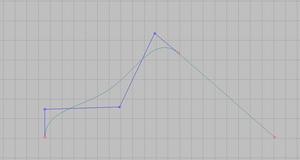 Smooth connection between two lines.