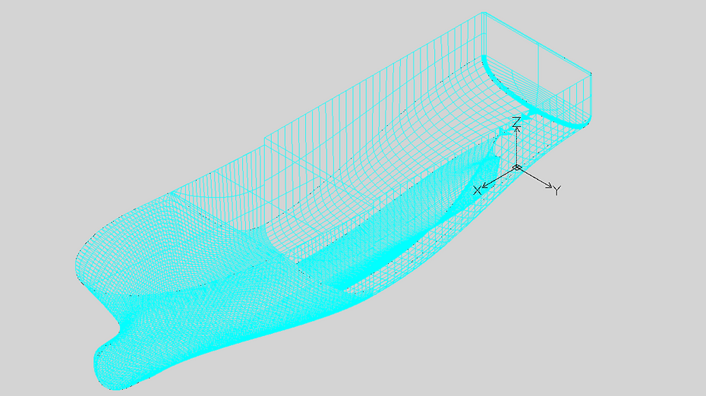 DXF 3D model with mesh.