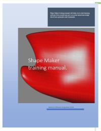 Shape Make training manual title page