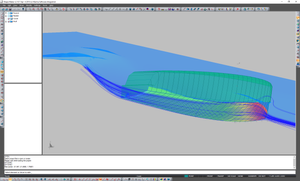 Fast speed boat CFD results in Shape Maker.