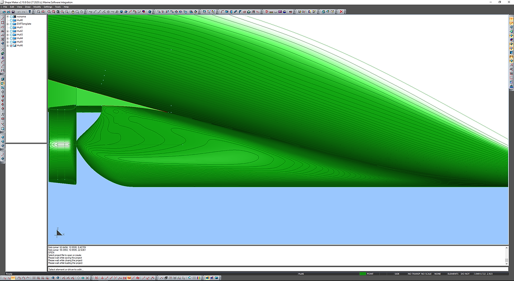 Aftship with equial angle lines visualization.