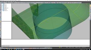 Surfaces intersecion line.