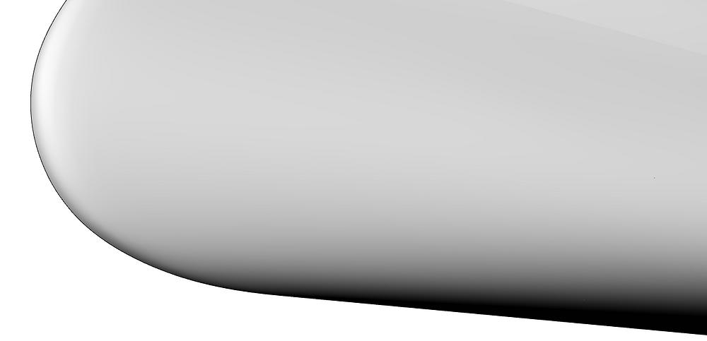 Shaded hull shape for finally faired model.