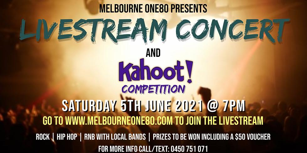 Melbourne One80 Livestream Concert & Kahoot! Challenge