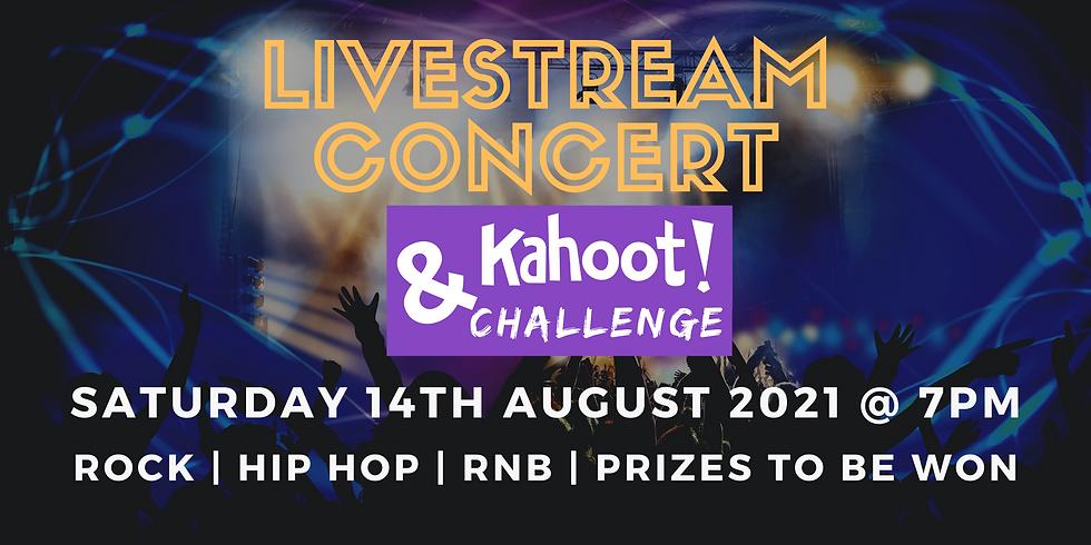 Livestream Concert & Kahoot! Challenge