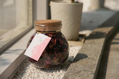 有機玫瑰花茶 15g 玻璃罐裝