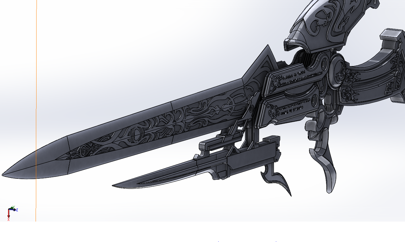 Lightning Sword Render