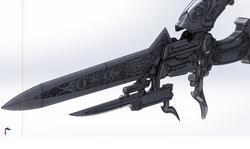 Lightning Sword Render
