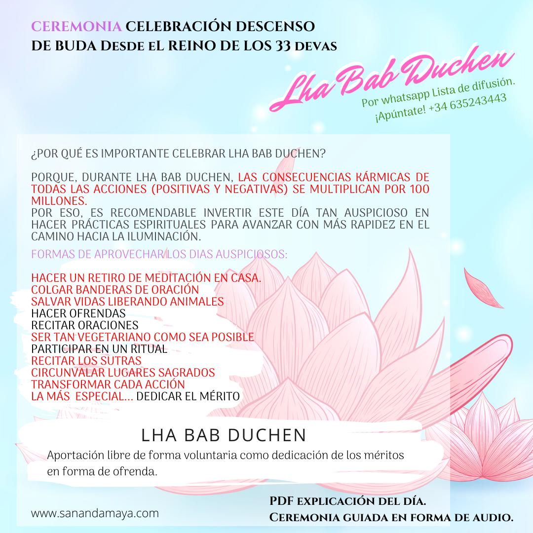 Celebración Lha Bar Duchen