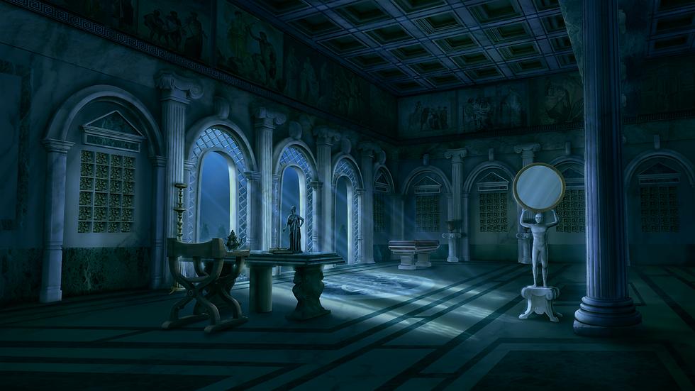 QV_100_NIGHT_INT_PETRONIUS PALACE_LIBRAR