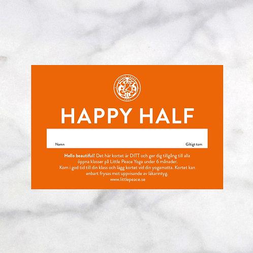 HAPPY HALF  Halvårskort