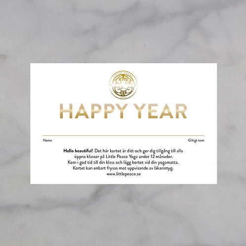 HAPPY YEAR Årskort