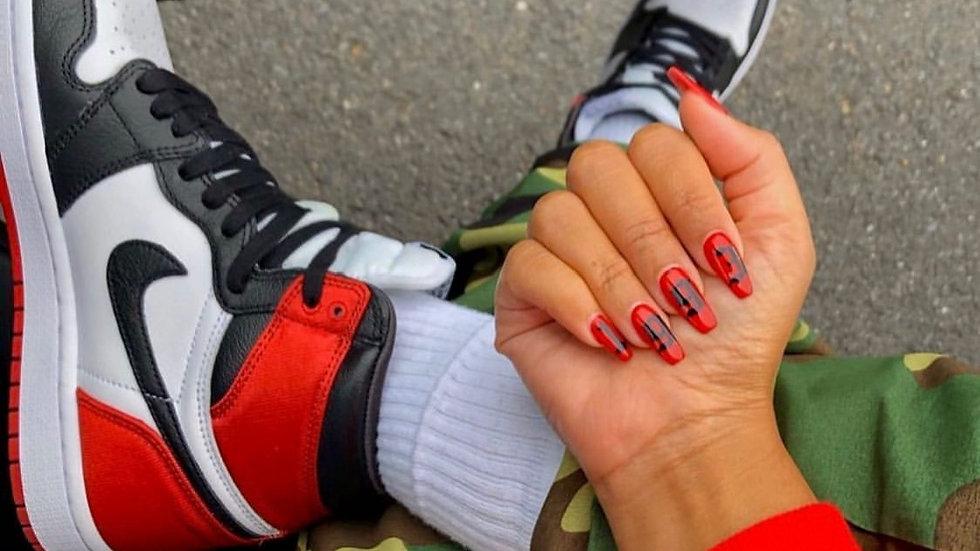 """Nike Air Jordan 1 """"Satin Black Toe"""" Fabric"""