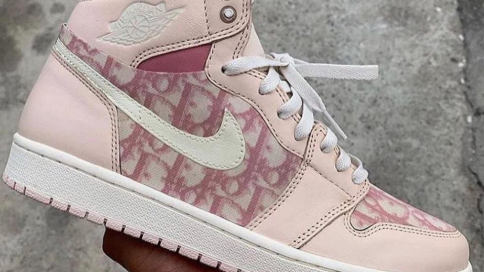 Dior X Air Jordan 1 High Pink