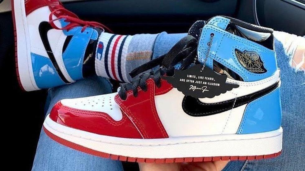 Nike Air Jordan 1 red and blue