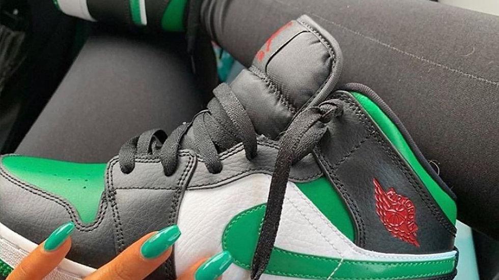 """Nike Air Jordan 1 Mid """"Green Toe"""""""