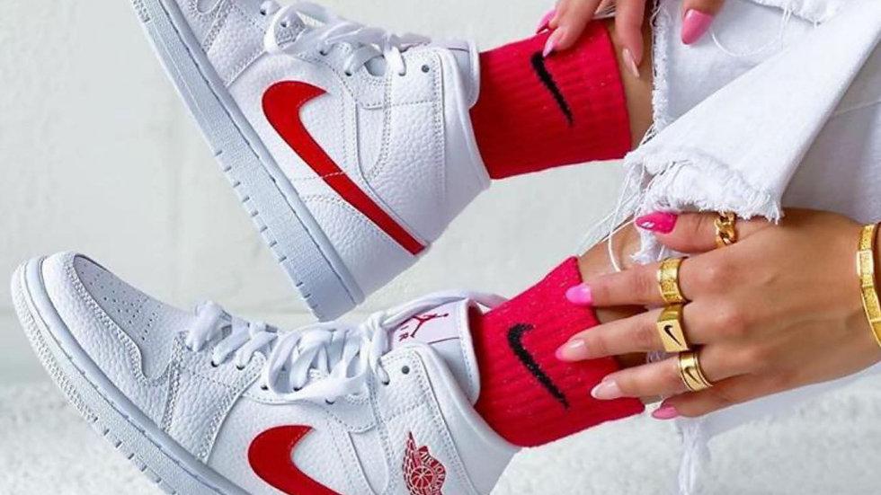 "Nike Air Jordan 1 Mid ""University Red"""
