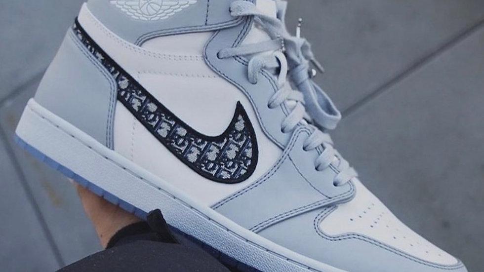 Dior X Air Jordan 1 High Grey