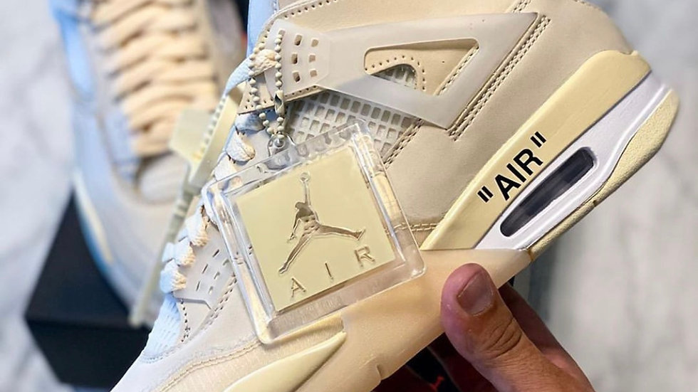 "Nike Air Jordan X Off-White 4 ""Sail"""