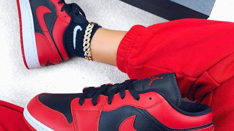 Nike Air Jordan 1 Low Black Gym Red