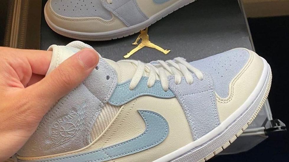 "Nike Air Jordan 1 Mid ""Mixed Textures Blue"""