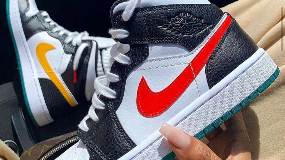 "Nike Air Jordan 1 Mid ""Alternate Swoosh"""