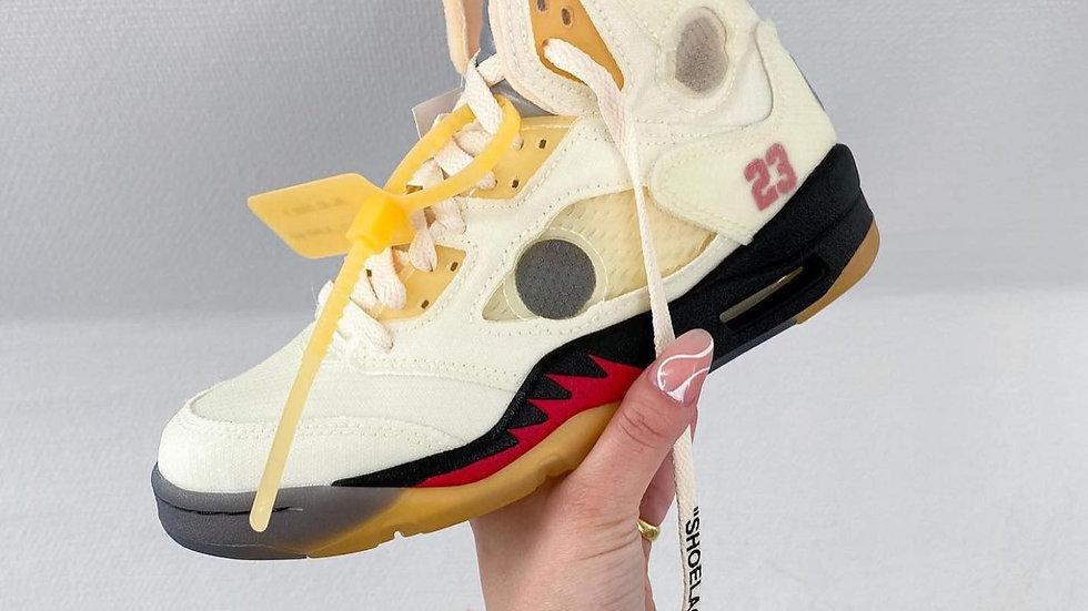"""Off White X Air Jordan """"Sail"""""""