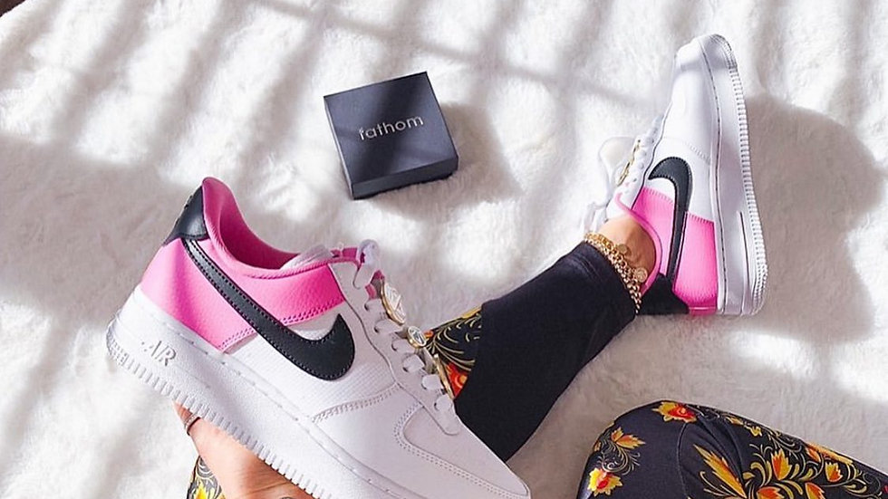 "Nike Air Force 1 ""Split"" pink and white"