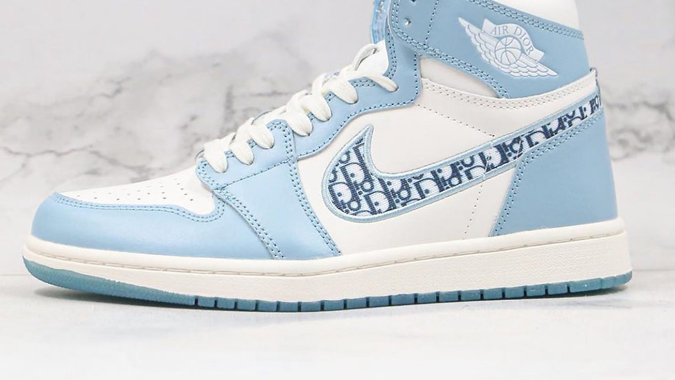 Dior X Air Jordan 1 High Blue