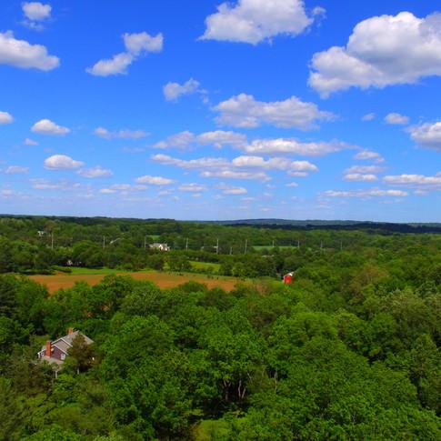 Aerial view of Skillman, NJ near Princeton