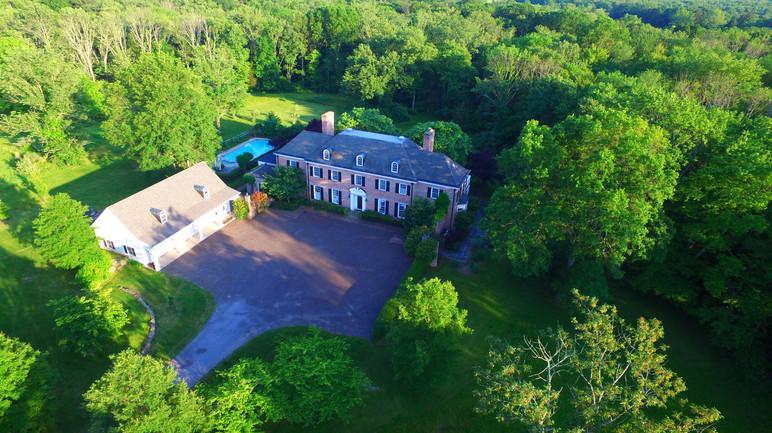 Aerial view of Twin Oaks, Princeton, NJ