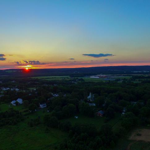Sunset over Blawenburg, NJ