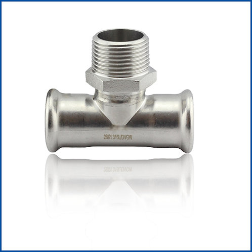 Tee With Male Thread End ETCT