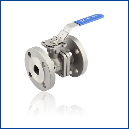 2PC FLANGED BALL VALVE WITH DIRECT MOUNTING PAD(JIS)