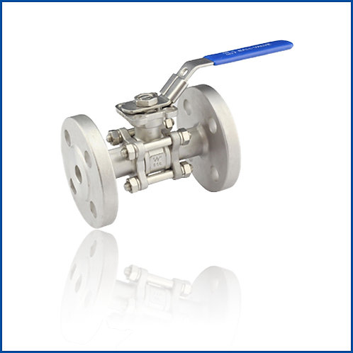 3PC FLANGED BALL VALVE WITH DIRECT MOUNTING PAD (DIN)