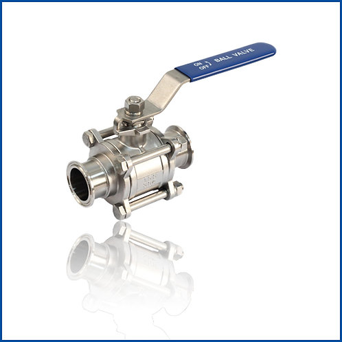 3PC BALL VALVE-CLAMPED END