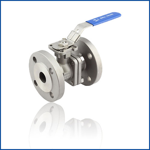 2PC FLANGED BALL VALVE WITH DIRECT MOUNTING PAD(ANSI)