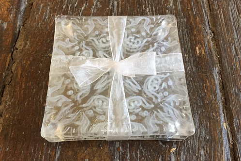 White lace coasters