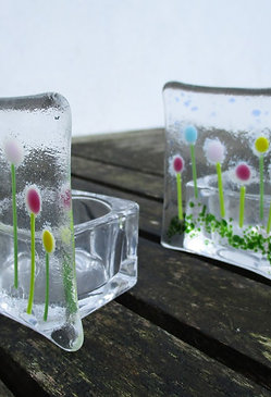 Tea Light Holder - Flowers