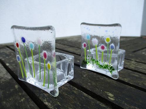 Tea Light Holder - Flowers