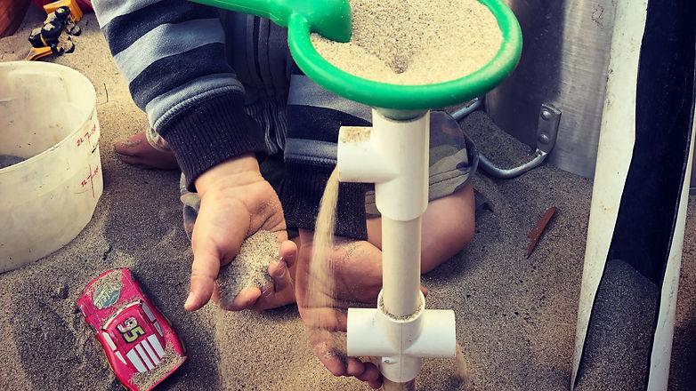 Preschool - Creating a unique sand toy